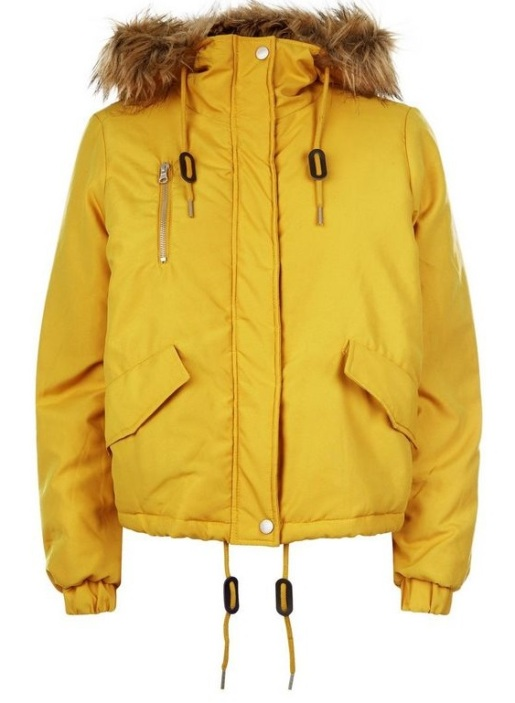 noisy-may-yellow-faux-fur-trim-jacket-