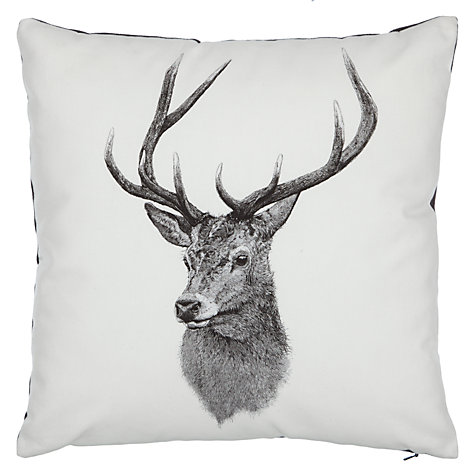 John Lewis Ben Rothery Henry Stag Cushion, £18