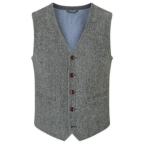 John Lewis herringbone wool waistcoat, £69.00