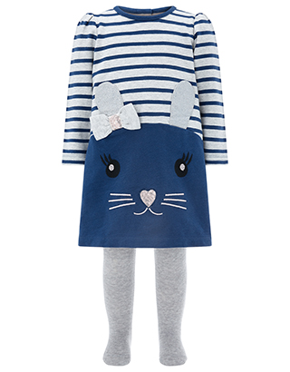 Monsoon Kids Baby Dorris Mouse Dress and Tights set, £24