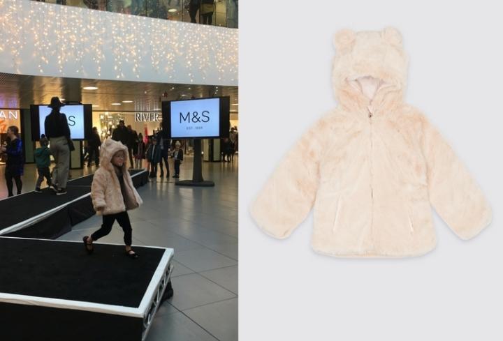 M&S Reversible Faux Fur Coat £36-38 (2)