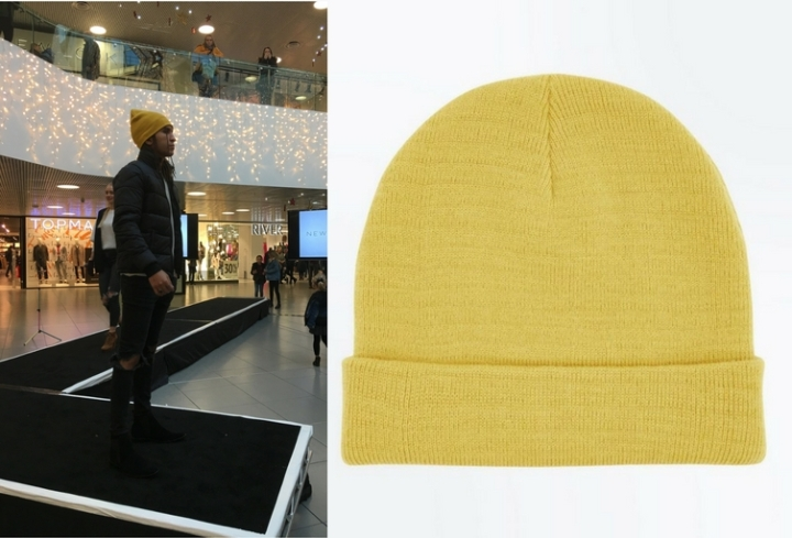 New Look yellow knitted beanie, £5.99 (2).jpg
