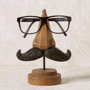 Next moustache glasses stand