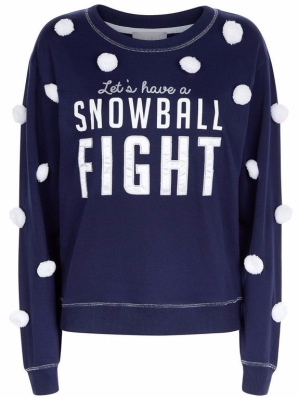 New Look blue showball fight sweatshirt £14.99