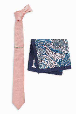 Tie and pocket square set Next, £12.00